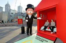 Board Game Pop-Up Hotels - The McDonald's Monopoly Hotel Publicity Campaign Brings the Game to Life