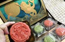 Branded Mooncake Desserts - Starbucks Japan is Offering a Mooncake Box for the Mid-Autumn Festival