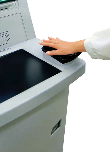 Palm-Scanning ATMs - Japan's Ogaki Kyoritsu Bank is Experimenting with Biometric Identification