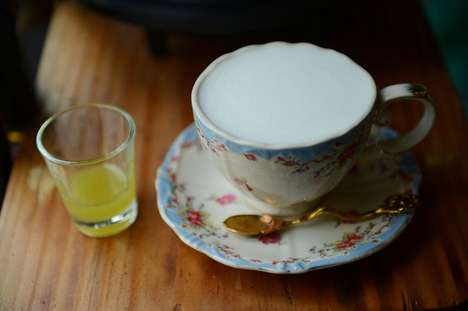 Wasabi-Infused Lattes