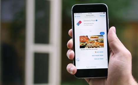 Food-Ordering Chatbots - Domino's Pizza Can Now Be Purchased Through Facebook Messenger