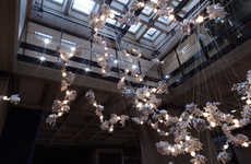 Coralline Lighting Installations - Omer Arbel's '44' is on Display at London's Barbican Centre