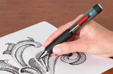 Vibrating Pointillism Pens - This Pen Makes the Art of Creating Images from Dots Much Simpler