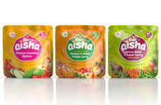 Healthy Halal Infant Food - The 'For Aisha' Stage-Three Baby Food Pouches are Vibrantly Branded