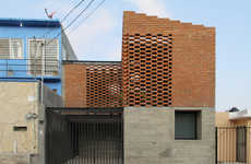 Imbricated Brick Houses - Tadeo House is a Red Brick Residence in Chiapas, Mexico