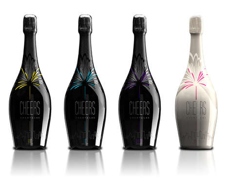 Celebratory Champagne Branding - These Champagne Bottles Celebrate the Alcohol's Usual Purpose