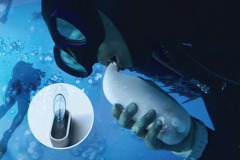 The 'Scubar' Water Holder Enables Scuba Divers to Stay Hydrated