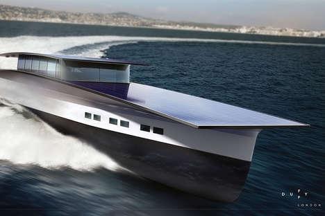 Luxury Solar-Powered Yachts