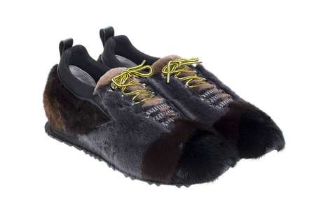 Color-Blocked Fur Sneakers - Fendi Covered the Entire Upper of Its Shoe in an Elaborate Fur Design