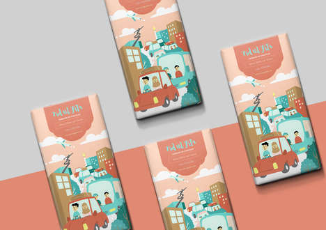 Religious Chocolate Branding - This Chocolate Packaging Celebrates the Muslim Holiday Eid ul Fitr