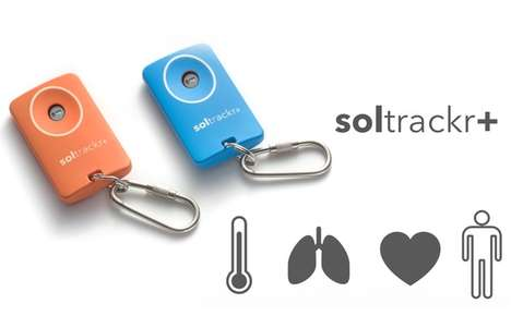 Keyring Health Trackers - The soltrackr+ Offers Portable Heart Rate and Vitamin Monitoring