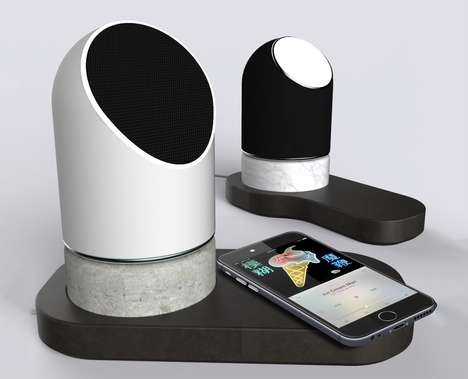 Ceramic Concrete Design Speakers - The Stoned Speakers Incorporate Unexpected Design Materials