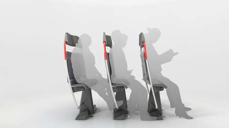 Space-Saving Train Seats - PriestmanGoode's Seat Design Can Increase Capacity by 30 Percent
