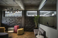 Somber Office Spaces - The FoxP2 Office Was Designed to Show Off a Heritage Building