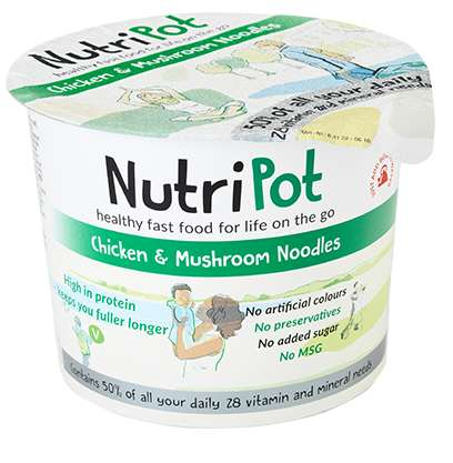 Nutritious Noodle Cups - NutriPot's Healthy Noodles Provide Essential Vitamins and Minerals