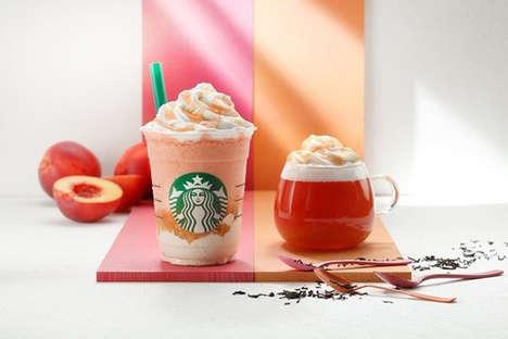 Nectarine Peach Frappuccinos