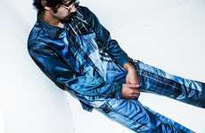 Japanese Americana Menswear - TALKING ABOUT THE ABSTRACTION's Line Boasts Blue Collar & Denim Looks