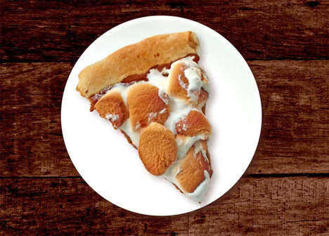 Spiced Pumpkin Pizzas - The Pumpkin Spice Latte Pizza Offers a Dessert Version of the Hot Drink
