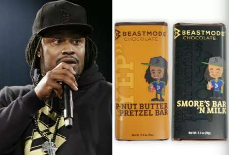 Athletic Chocolate Bars - Footballer Marshawn Lynch Takes on a New Venture With 'Beast Mode' Candy