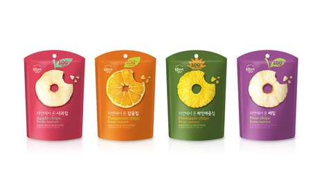 Spherical Fruit Snack Branding