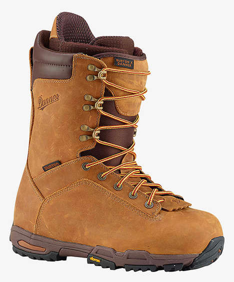 Stylish Winter Sport Boots - The Burton x Danner Snowboard Boots Blend Fashion with Utility