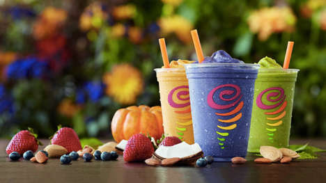 Dairy-Free Seasonal Smoothies - Jamba Juice's Almond Milk Smoothies are Back in Three Fall Flavors