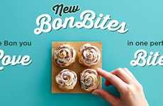 Bite-Size Cinnamon Rolls - Cinnabon's New Bon Bites Provide a New Way to Indulge