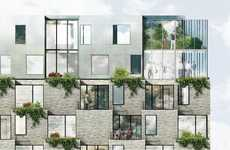 Farming-Focused Residential Skyscrapers - This Danish Building Will Be Fitted With Balcony Gardens
