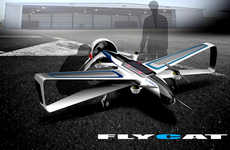 Conceptual Delivery Drones - The 'FLYCAT' is a Personal Drone with Ample Space for Cargo