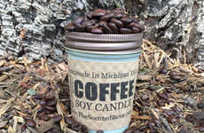Seasonal Beverage Candles - The Pumpkin Latte Coffee Candle from The Scented Bean Eliminates Odors