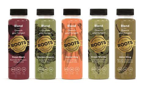 Hunger-Quenching Vegetable Blends - The Roots Collective Juices Make It Easier to Eat More Greens