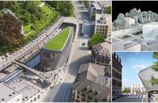 Turf-Topped Office Buildings - The AXA Building by Santiago Calatrava Will Be in a Train Station