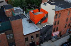 Shipping Container Penthouses - LOT-EK Adapted a Family Home to Incorporate Industrial Components