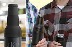 Insulated Steel Beer Koozies - The Apex Vacuum Stainless Steel Container Keeps Bottles or Cans Cold