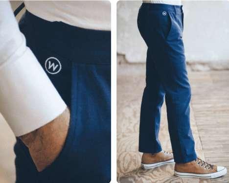 Sleek Stain-Resistant Trousers
