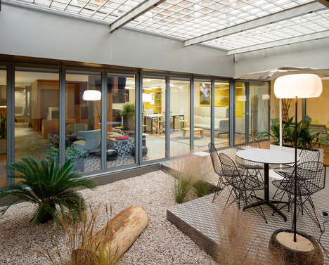 Courtyard-Themed Offices
