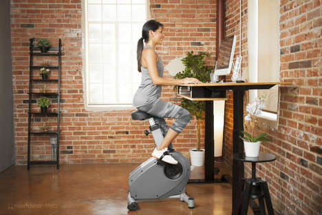 Stationary Bike Office Chairs - The XDesk Velo Lets Employees Pedal While They Work