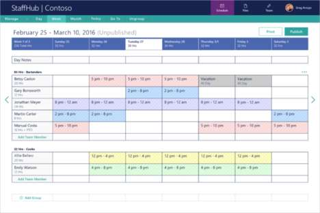 Streamlined Staffing Apps - The StaffHub App Helps You Plan and Schedule Shifts