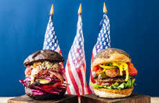 Presidential Burger Elections - The J.S. BURGERS CAFE Created Burgers That Represent the Candidates