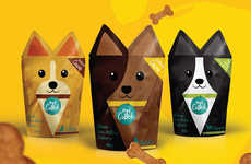 Familial Pet Product Packaging - The Pet Crock Cookie Packaging Features a Cute Canine Design