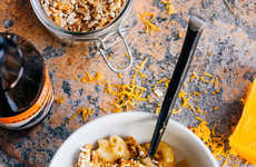 Autumnal Ale Pasta - This Pumpkin Macaroni and Cheese is Made With Beer and Pretzel Crumbs