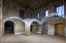 Castle Arch Lighting Installations - 'Reframe' Replaces Ruined Arches with Hanging Lights