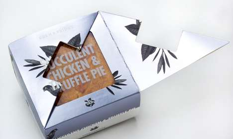 Luxurious Savory Pies - These Pies Are Offered in Elegant Transparent Boxes