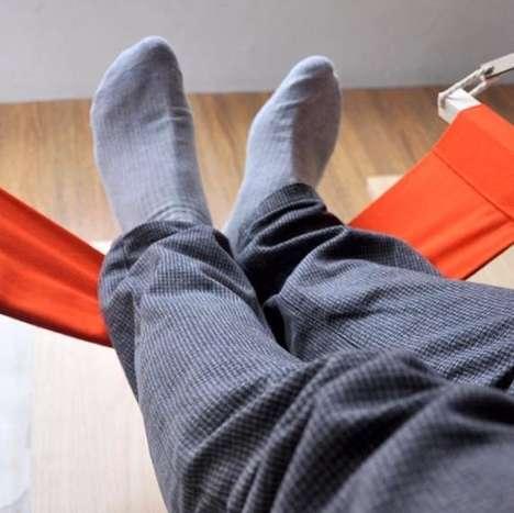 Desk-Attached Feet Hammocks