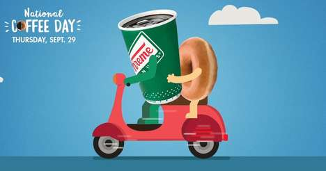 Coffee Pairing Promotions - Krispy Kreme is Celebrating National Coffee Day 2016 with Free Food