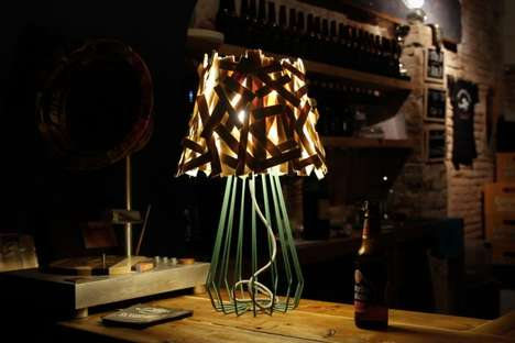High-Fashion Recycled Lamps - The 'Palitios' Lamp is Crafted Using Old Fruit Crates