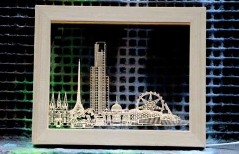 Light-Up Skyline Frames