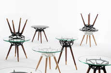 Algorithmically Artistic Tables - Each of Studio Integrate's Rio Tables is Completely Unique