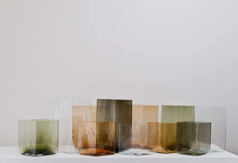 Multi-Colored Cubic Vases
