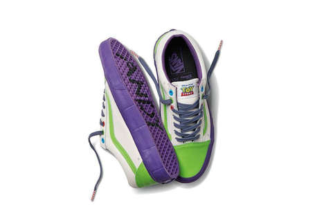 Disney Cartoon Sneakers - Vans is Releasing a Line of Toy Story Shoes in Collaboration with Disney